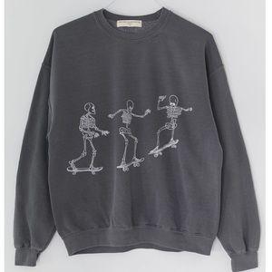 Urban Outfitters skateboard skeletons sweatshirt